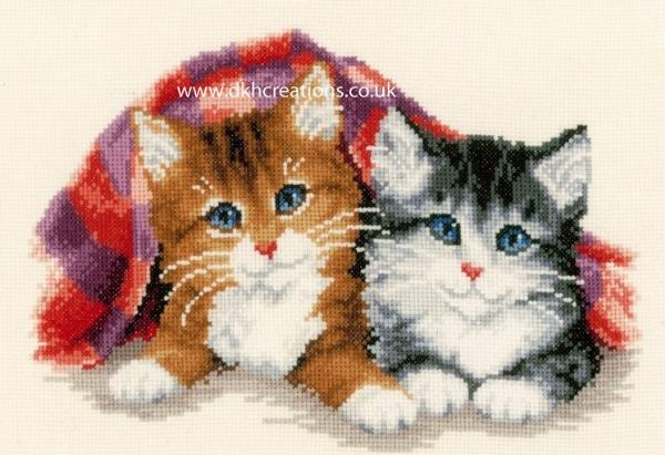 Purring Kittens Cross Stitch Kit